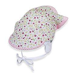 Sterntaler Kopftuch für Mädchen mit Bindebändern und Blümchenmuster, Alter: 18-24 Monate, Größe: 51, Weiß
