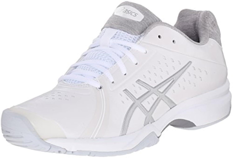Zapatillas de tenis Bella Bella GEL-Court, Blanco / Plateado / Blanco, 6 M US