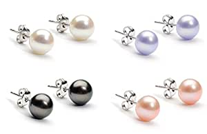 Glimmering Pearls Stud Earrings Made With SWAROVSKI ELEMENTS - Set of 4