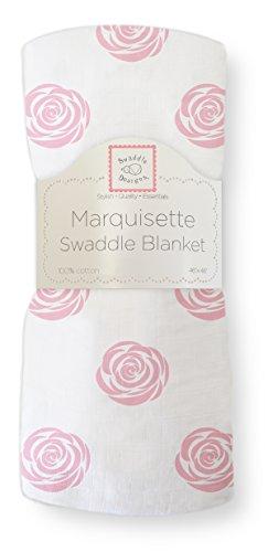 SwaddleDesigns Pucktuch aus Marquisette, Premium Baumwollmusselin, Rosa
