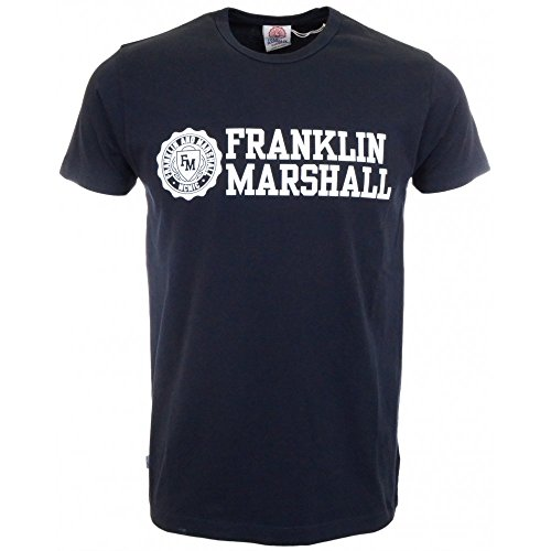 Franklin & Marshall Tshirt Jersey Round Neck Short-T-shirt  Uomo    blu navy small