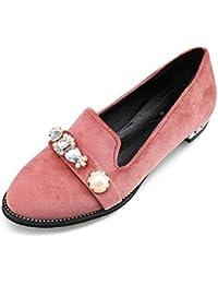 GLTER Zapatos de mujer de corte zapatos de terciopelo de diamante retro cerrado-dedo del pie bombas sandalias...