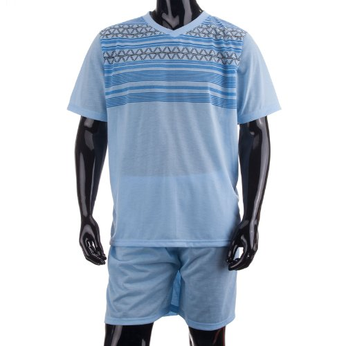 lucky-brand-pigiama-due-pezzi-a-righe-maniche-corte-uomo-blu-azzurro-x-large