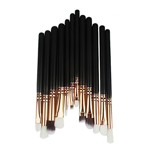 Wicemoon Lot de 12 Set Outils Pinceaux Maquillage Pinceaux pour le Yeux Ombre à Paupières Sourcils Shader Concealer Cosmetics Brush