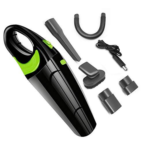 LKDKJ Drahtloser Auto-Staubsauger, USB-Ladekabel, 120 W großer Haipa-Filter, nass und trocken, DREI Farben,Black