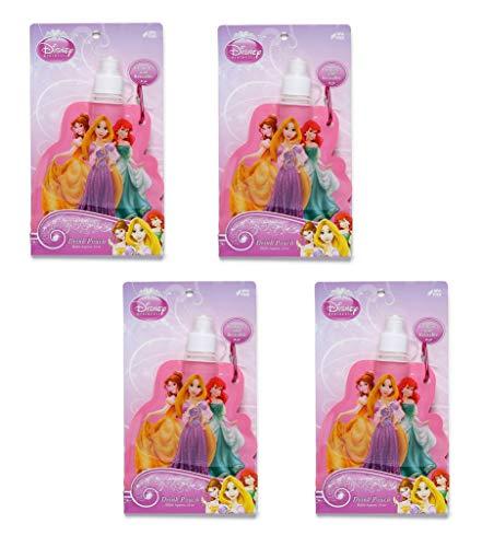 Best Brands Trinkbeutel mit Clip, wiederverwendbar, Disney-Prinzessinnen, 340 ml, BPA-frei, 4 Stück (Disney Prinzessin-clip)