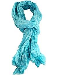 Kaporal - Echarpe foulard en coton Salma sky blue été 2016 40921e28be2