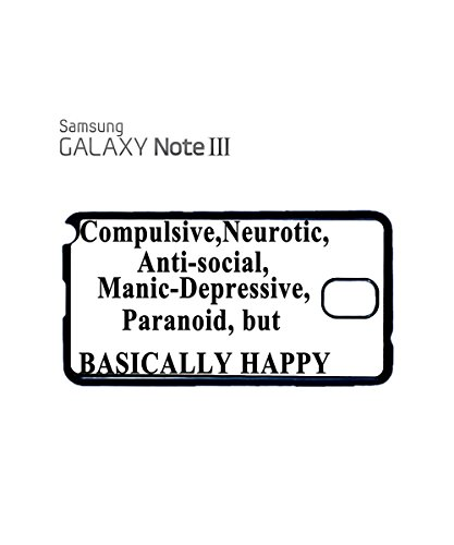 Basically Happy Sad Angry Emotion Mobile Phone Case Back Cover Coque Housse Etui Noir Blanc pour for Samsung Galaxy S5 Black Noir