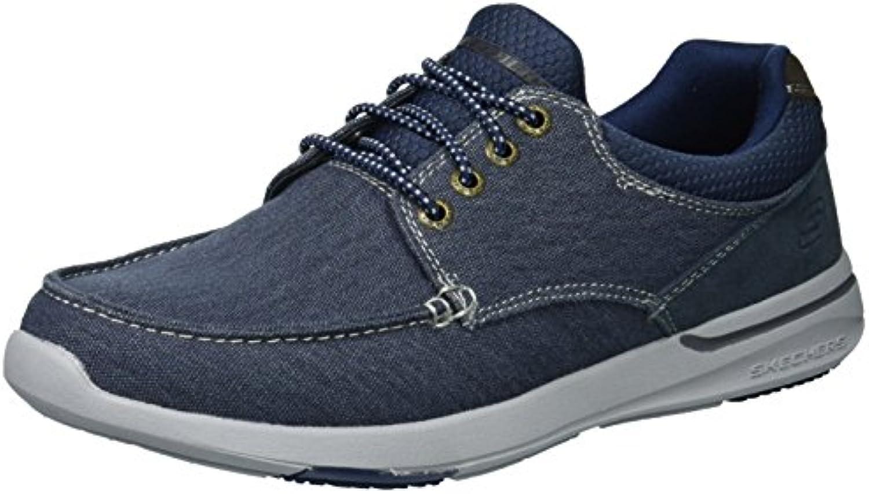 Skechers USA Men's Relaxed Fit-Elent-Mosen, Zapatos para Bote para Hombre -