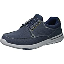 Skechers Mens Elent Mosen Lace Up Canvas Durable Casual Boat Shoes