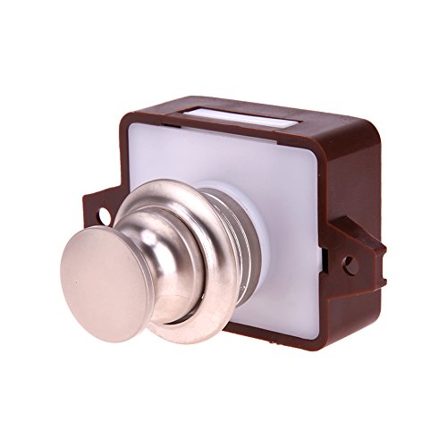 18-25MM Thickness Alloy Handle,Large Push Lock Button Catch Drawer Cupboard Door Knob for Ship Yacht RV -