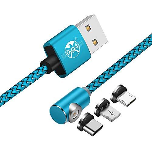 e9628b9480e UGI L Forma 3 en 1 Cable magnético Micro USB Tipo C Relámpago 3.3ft/