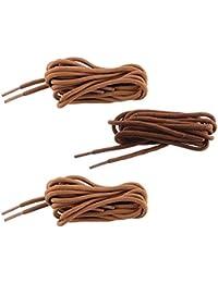SHOESHINE INDIA Unisex Polyester Round Shoe Lace (90cm, Brown)