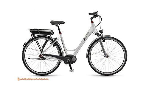 """STAIGER Sinus BC30f E Bike E-Bike Pedelec Elektrofahrrad 28"""" Wave 50cm Rahmen 400Wh Akku Silber Modell 2016"""