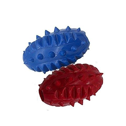 Pro goleem Langlebige Hunde-Kauspielzeug Gummi Dinosaurier Ei für Beißer (2 PCs)