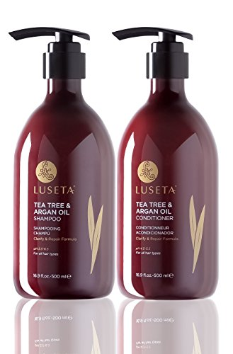 Luseta Tea Tree & Argan Oil Shampoo & Conditioner Set 2x16.9oz by Luseta
