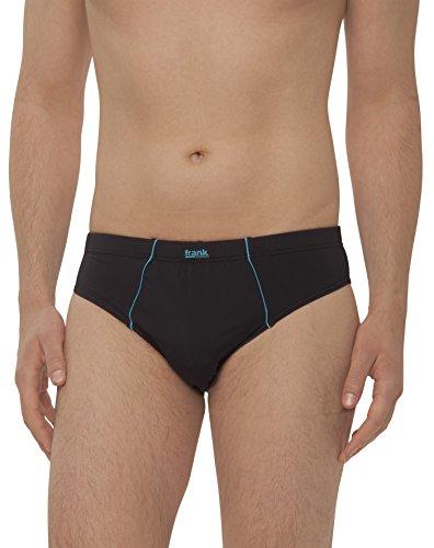 Frank Fields - Herren Slips aus Microfaser, enge Unterwäsche mit Öko-Tex-Standard 100 (Unterhose Männer ohne Eingriff) - 4 Stück, Farbe:blau, Größe:10