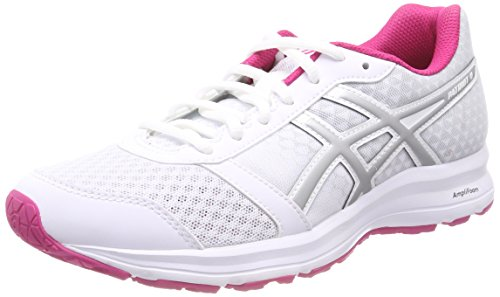 ASICS Patriot 9 Scarpe Running Donna, Bianco (White/Silver/Fuchsia Purple 0193) 38 EU
