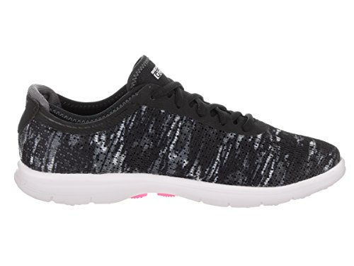 Skechers Damen Go Step Sneaker Black White