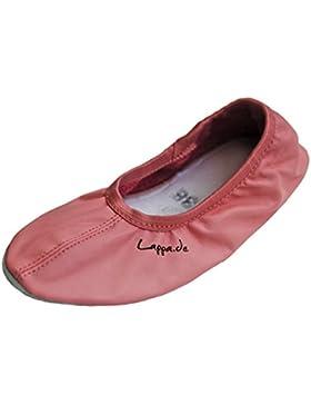 Gymnastikschuhe, Ballettschuhe, Schläppchen, Turnschläppchen, Tanzschuhe mit Gummisohle rosa Art. N244G