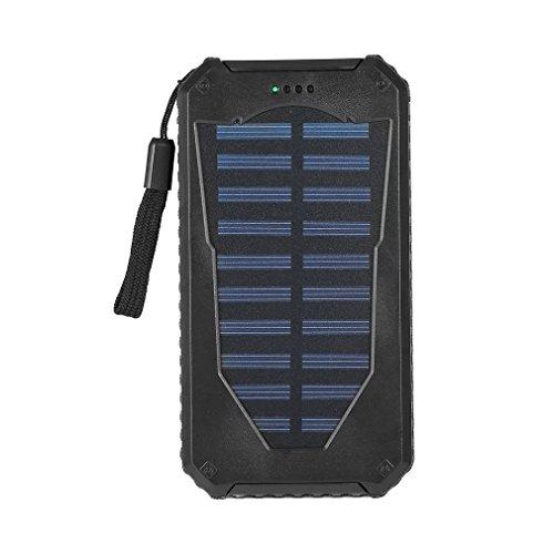 & # x266b; maistore impermeable 50000mAh cargador solar dual USB banco de energía de la batería 10LED Solar Power Bank con cordón
