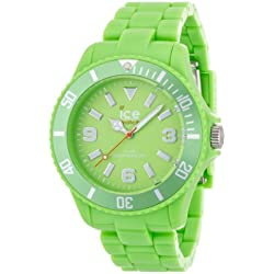 ICE-Watch Solid Men's Quartz Watch with Green Dial Analogue Display and Green Plastic Bracelet SD.GN.B.P.12