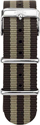 Sailor Damen Nylon Armband Anchor Silber-schwarz BSL101-1018-20, Breite Armband:20mm (normal), Farbe