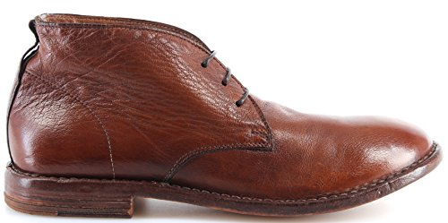 MOMA Chaussures Homme Bottes 14802-3B BUFALO Cuir Marron Made In Italy Vintage