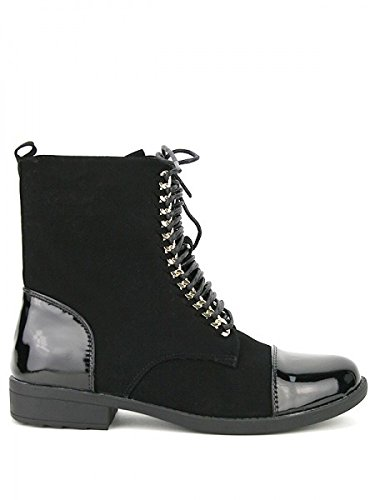 Cendriyon, Bottine Daim noire FELTANA Fashion Chaussures Femme Noir