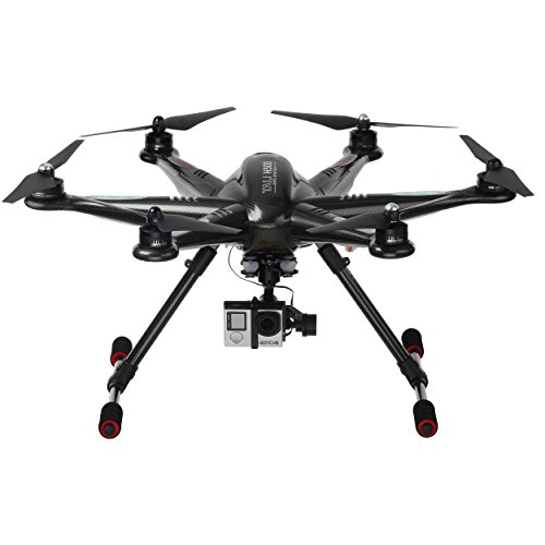 Walkera 25162 - Drone esacottero Tali H500 Carbon, live video FPV (First Person View), Gimbal brushless 3D, radiocomando Devo F12E, videocamera