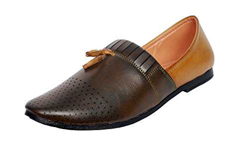 Slip On Synthetic Leather Jalsa Juti - Superior Quality Punjabi Men's Party Casual Wear Jutti By VOLO  available at amazon for Rs.431