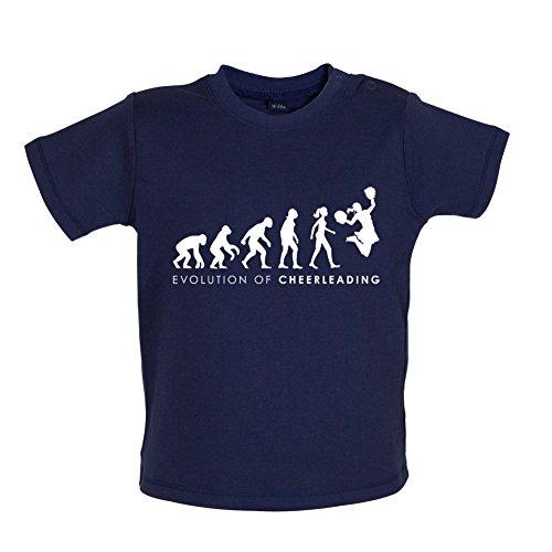 Kostüm Blau Cheerdance (Evolution of Woman - Cheerleading - Baby T-Shirt - Marineblau - 12 bis 18)