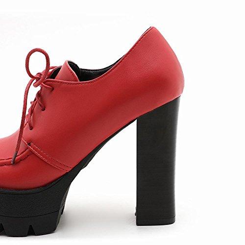 Misssasa Femme Chaussures À Talons Hauts Décontractés Rouge