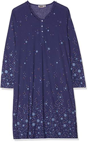 hajo Damen Nachthemd, Blau (Nachtblau 613), 46 (Herstellergröße: 44/46)