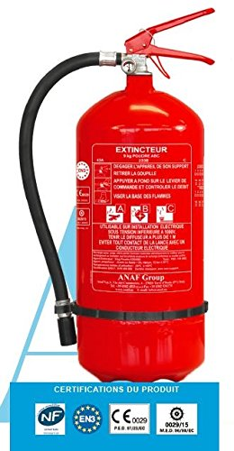 Extincteur 6 litres à eau pulvérisée avec additif + support fixatio