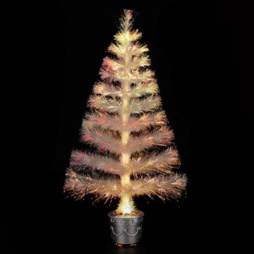 ALBERO DI NATALE artificiale con vaso - LUMINOSO, in fibra ottica - Luce a variazione (Vaso Albero Di Natale)