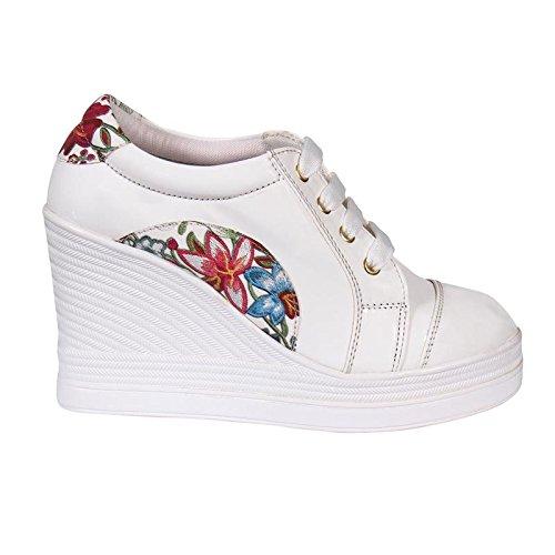 Bird Bird Funky Floral Design Wedge Heel Designer Boots For Women | Girls | Premium Quality