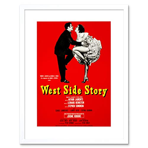 THEATRE STAGE PLAY WEST SIDE STORY BERNSTEIN SONDHEIM BROADWAY PRINT B12X10556