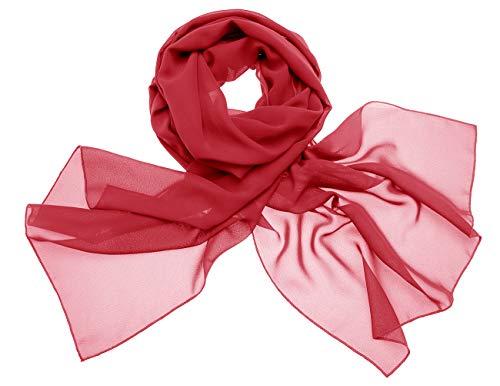 Dresstells Chiffon Schal Stola für Abendkleider in Verschiedenen Farben Dark Red 190cmX70cm/ Medium