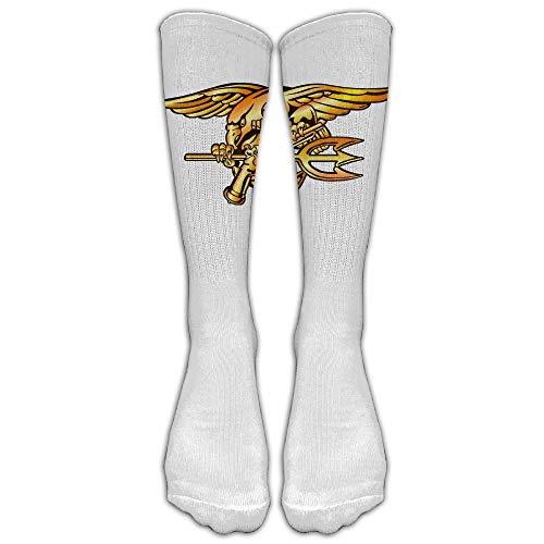 saibing Navy Seals Trident Knee High Long Socks Athletic Tube Stockings For Soccer (Seal Kostüm Kids Navy)