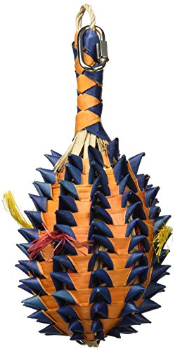 Rosewood Woven Wonders Surprises Labyrinthiques Ananas à Farfouiller Jouet pour Oiseau Taille L