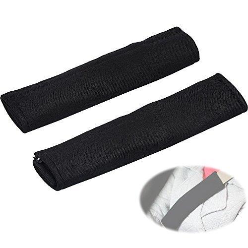 ASIV 1 Par Confortable Almohadillas para Cinturón de Seguridad Correa Cubiertas para Hombrera Negro