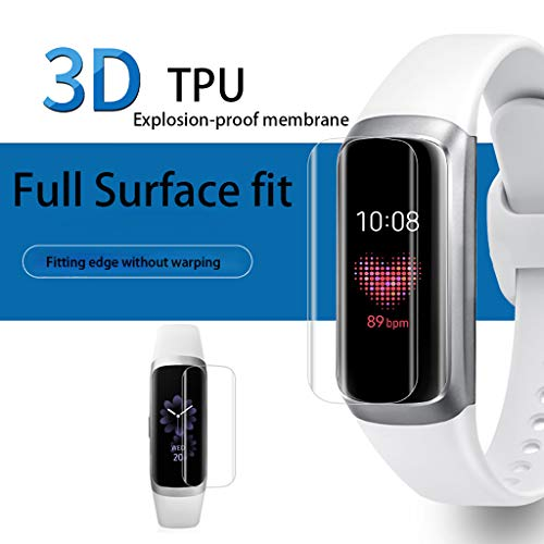 Webla Schutzfolie, 5 Stück schwer entflammbare TPU-Displayschutzfolie für Samsung Galaxy Fit Band, Tpu - Carbon X-schwer Entflammbar