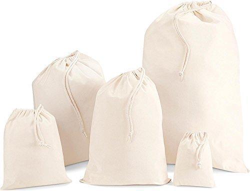 Cotton Stuff Bag   Stoffsack aus Baumwolle Farbe natur Größe M