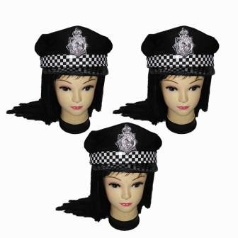Oxytrends Police fashion hat-Pack of 3