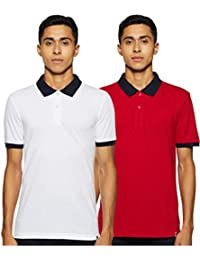 Symbol Men's Solid Regular fit Polo (Pack of 2)