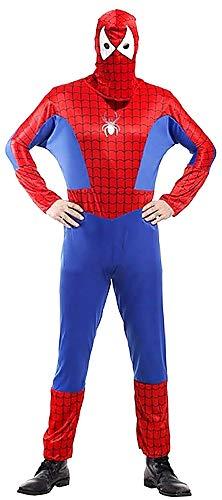 Costume Uomo Ragno - Travestimento - Carnevale - Halloween - Spiderman - Super Eroe - Colore Rosso - Adulti - Uomo - Ragazzo - Taglia Unica - Idea Regalo per Natale e Compleanno