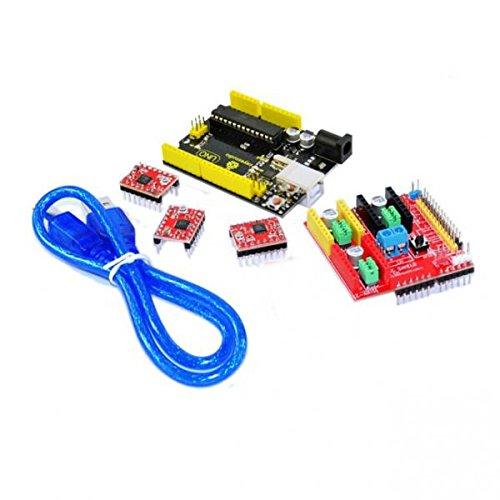 Gazechimp CNC Engraver Board + 3PCS A4988 Schrittmotortreiber Kit Für Arduino -