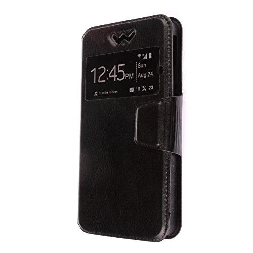 "MISEMIYA - Funda Universal Para Smartphone - 4# 4.8""-5.2""(7*14cm), Libro View Sporte,Negro"