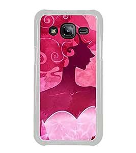 FUSON Beauty Illustration Girls Hair Designer Back Case Cover for Samsung Galaxy J2 J200G (2015) :: Samsung Galaxy J2 Duos (2015) :: Samsung Galaxy J2 J200F J200Y J200H J200Gu